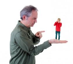 Erziehungsprobleme-Vater und Sohn
